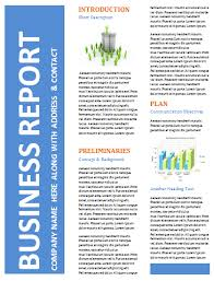 free business report templates pacq co