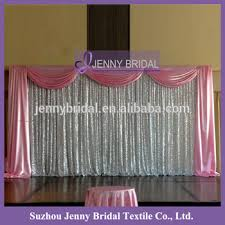 wedding backdrop curtains bck067 satin valance silver shiny sequin wedding backdrop curtains
