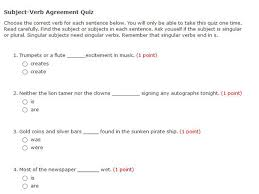 subject verb agreement quiz english guide org