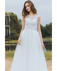 dress cheap modest lace a line wedding dress cheap boho cap sleeves