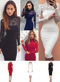 lace turtleneck dress dresshead