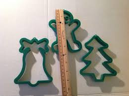 extra large christmas cookie cutters snowman bell tree gingerbread