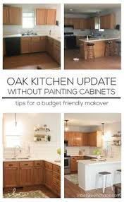 how to lighten dark cabinets without painting how to minimize your 80 s kitchen with oak cabinets without
