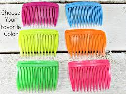 goody hair vintage hair comb set of 2 goody neon plastic orange