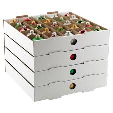 ornament storage box with dividers ornament storage for