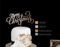 Christmas Baking Decorations Nz by Christmas Cake Decoration Etsy