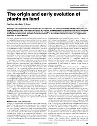 the origin and early evolution of plants on land pdf download