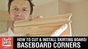 how to cut u0026 install skirting board baseboard internal corners