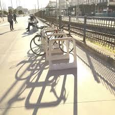 fiber reinforced concrete bike rack original design raval by