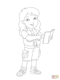 alicia is showing you something in her book coloring page free