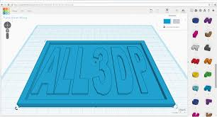 how to 3d print a name tag using tinkercad all3dp