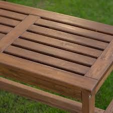 coral coast 3 ft outdoor wood backless bench dark brown hayneedle