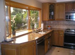 Oversized Floor L Kitchens With Bay Windows L Shaped Outdoor Kitchen