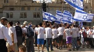 Dancing Flags Young Jewish Yeshiva Students Dance With Flags Western Wall