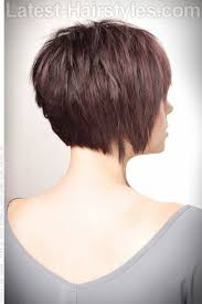 front and back views of chopped hair side back textured bob short haircut with volume and texture back