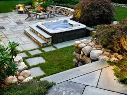 Rock Backyard Landscaping Ideas by Landscaping Ideas Small Yard Tub Backyard Designs With Tubs