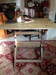 industrial antique drafting table as kitchen island for the love