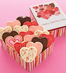 valentines cookies day gift tin 16 cutout cookies