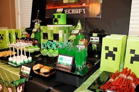 minecraft birthday party minecraft creeper birthday party birthday party ideas themes