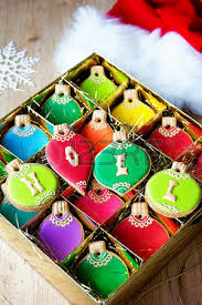 gift box of ornament cookies stock photo picture and