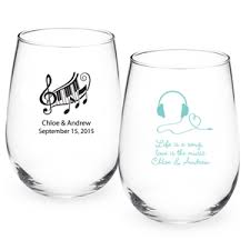 wine glasses for wedding personalized stemless wine glass favors personalized
