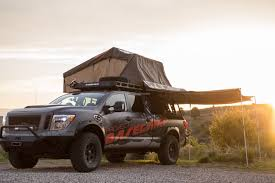 nissan titan camper nissan titan xd pro 4x project basecamp is one tough truck