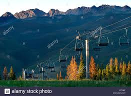 Vail Mountain Map Chair Lift On Vail Mountain Vail Colorado Usa Summer Time Stock