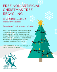 free christmas tree recycling columbia shuswap regional district