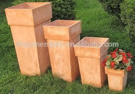Tall Rectangular Planter by Terracotta Decorative Tall Outdoor Planters Wholesale Buy Tall