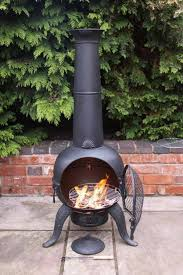 Garden Chiminea Sale Zeta Steel Chiminea Large Bronze Chimineashop Co Uk