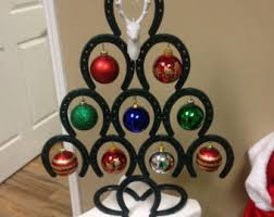 horseshoe christmas ornaments horseshoe christmas etsy