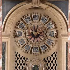 marble ornament with clock de grande antique clock