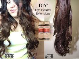 diy dying bellami hair extensions
