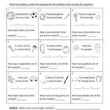 word problems worksheets 1st grade free worksheets library