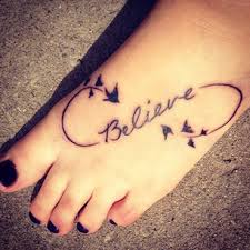 best friend quote n infinity symbol tattoo on foot photo 3