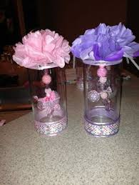centerpieces for baby shower girl jars baby shower center pieces baby