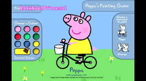 peppa pig paint and color games online peppa pig painting games