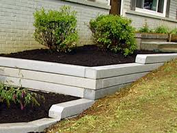 garden wall how to install a timber retaining wall hgtv