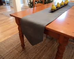 Dining Room Table Runners Grey Table Runner Etsy