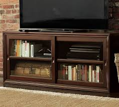 Media Cabinet Glass Doors The Best Of Winslow Glass Door Media Stand Pottery Barn At Cabinet