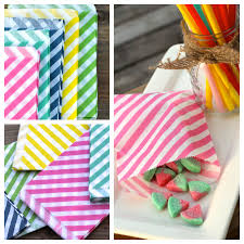 treat bags it s in the bag striped treat bags 67 the plaid barn