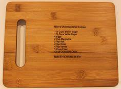 cutting board with recipe engraved custom engraved cutting boards with a keepsake recipe custom
