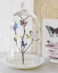 butterfly centerpieces branch in glass dome centerpieces budget brides guide a
