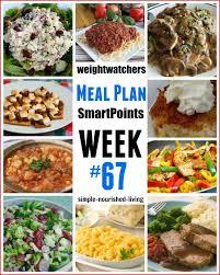 cuisine simple 67 weight watchers weekly meal plan 67 smartpoints breakfast lunch