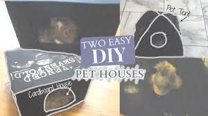 two easy diy pet houses youtube