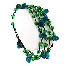 glass beads bracelet images Fair trade thai glass bead bracelet green jpg