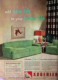 home decor ads kroehler tele vue couch designed for a relatively new activity