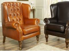 Chesterfield Wing Armchair Leather Wingback Chairs High Back Scroll Queen Anne U0026 More