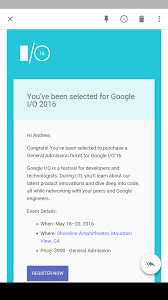 check your email google i o invites are starting to roll out