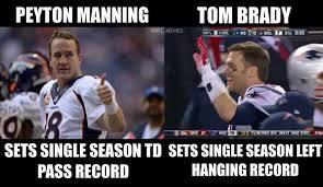 Peyton Superbowl Meme - tom brady vs peyton manning football humor patriots broncos